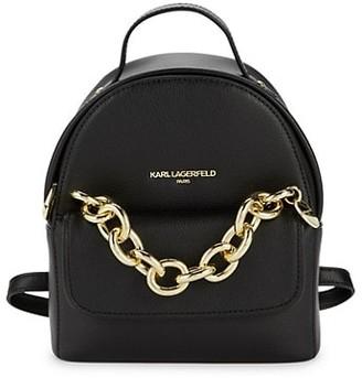 Karl Lagerfeld Paris Mini Mia Leather Backpack