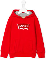 Levi's Kids - logo print hoody - kids - Cotton/Polyester - 4 yrs