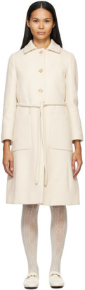 Gucci White Brushed Wool Coat