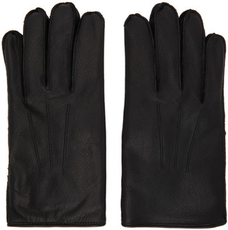 Ralph Lauren RRL Black Leather Officers Gloves
