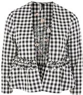 Topshop Embroidered Gingham Jacket