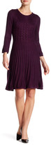 Eliza J Long Sleeve Fit & Flare Dress