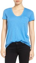 Caslon Relaxed Slub Knit U-Neck Tee (Regular & Petite)