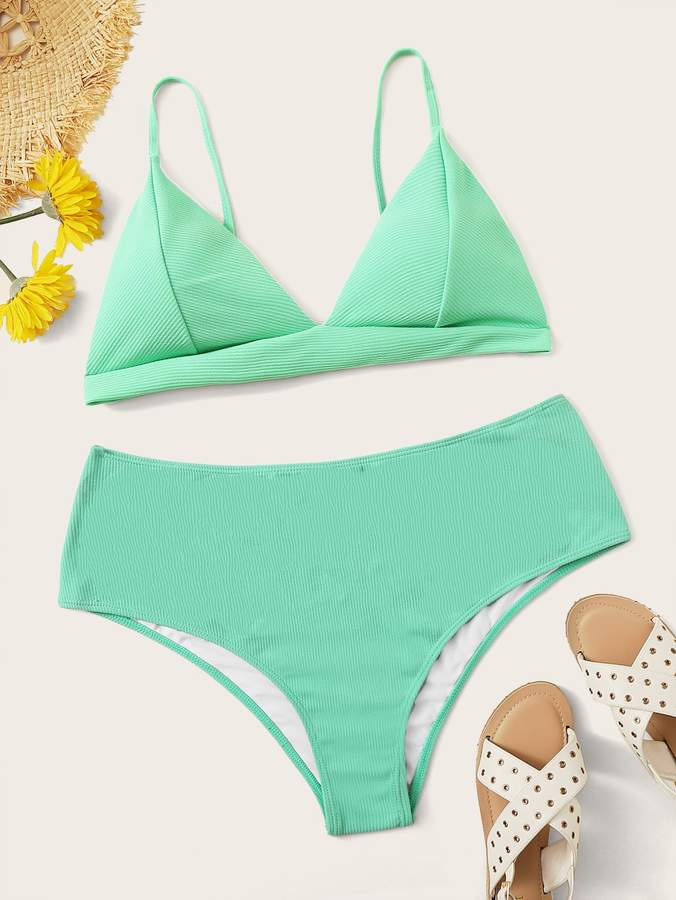 33c7a51ede Shein Green Plus Size Swimsuits - ShopStyle
