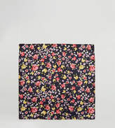 Reclaimed Vintage Inspired Pocket Square In Black Floral Print