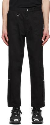 Undercover Black Zipper Trousers