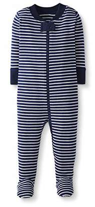 Moon and Back One Piece Footed Pajama Sleepers, Navy