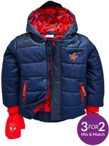 Spiderman Boys Padded Coat