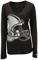 Nike Women's Long-Sleeve Cleveland Browns Logo Wrap T-Shirt
