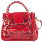 Valentino Garavani Red Patent Leather Mini Histoire Shoulder Handbag EVHB