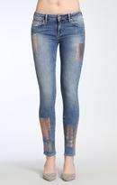 Mavi Jeans Adriana Super Skinny In Galactic Patch Indigo