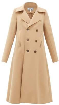 Loewe Double-breasted Wool-blend Swing Coat - Womens - Camel