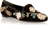 olivia palermo  Who made  Olivia Palermos camo print shirt, black leather fringe handbag, brown sunglasses, and floral loafer shoes?