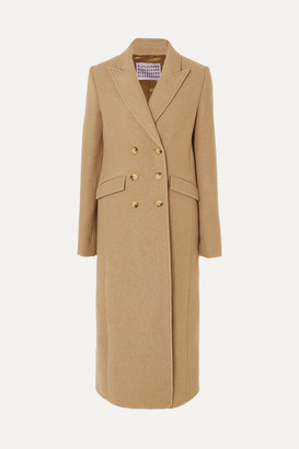 ALEXACHUNG Double-breasted Boiled Wool Coat - Camel