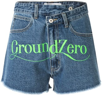 Ground Zero High Rise Denim Shorts