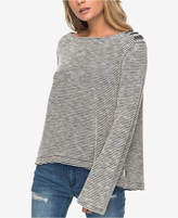 Roxy Juniors' Free Thinking Button-Trim Sweater