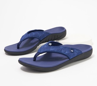Spenco Orthotic Thong Sandals - Yumi Wave