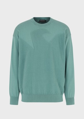 Emporio Armani Sweater With Fancy Knit Eagle