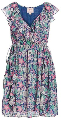 Banjanan Sylvie Floral Ruffled Dress