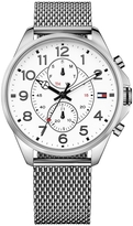 Tommy Hilfiger White Sport Watch With Mesh Strap