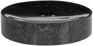 A By Amara Marbled Resin Soap Dish - Black