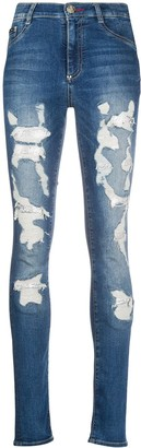 Philipp Plein Destroyed Skinny Jeans