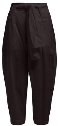 Issey Miyake Tortelli High-rise Wide-leg Trousers - Womens - Black