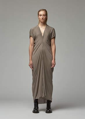 Rick Owens Lilies Short Sleeve Gathered Dress