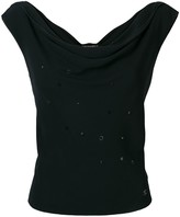 Chanel Pre Owned cowl neck embellished blouse