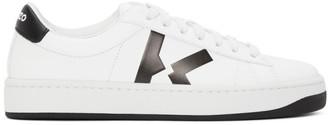 Kenzo White K Logo Kourt Sneakers