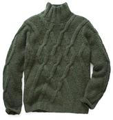 Todd Snyder Wool Lattice Cable Turtleneck