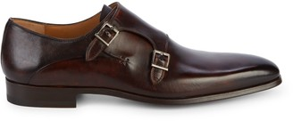 Magnanni Double Monk-Strap Leather Oxfords