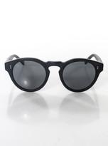 Raen Black Plastic Gray Lense Retro Round Sunglasses NEW IN BOX