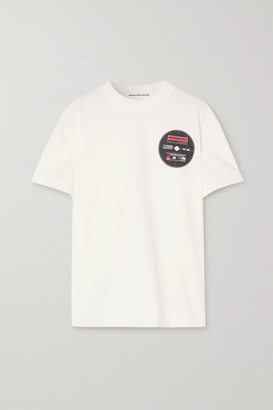 Alexander Wang Printed Cotton-jersey T-shirt - White