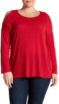 Bobeau Cold Shoulder Rib Thermal (Plus Size)