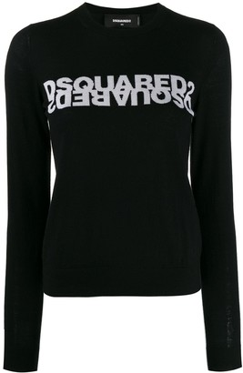 DSQUARED2 logo knitted jumper
