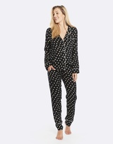 Deshabille Raffles Long Pj Set Black / Ivory