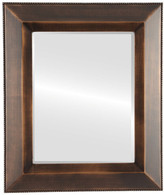 The Oval And Round Mirror Store Lombardia Framed Rectangle Mirror, Rubbed Bronze, 25x29