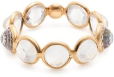 Tresor Collection Rainbow Moonstone Round Rose Cut Ring Band In 18K Yellow Gold