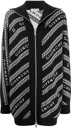 Givenchy Logo-Intarsia Zipped Cardigan