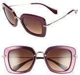 Miu Miu Women's 52Mm Glitter Sunglasses - Amaranth
