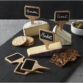Crate & Barrel Chalkboard Cheese Markers, Set of 6