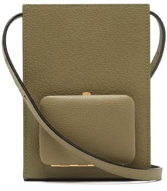 Lutz Morris Parker Grained-leather Cross-body Bag - Khaki