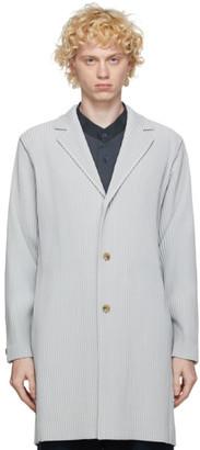 Homme Plissé Issey Miyake Grey Basic Long Coat