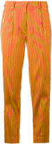 Etro striped cropped trousers - women - Silk/Cotton/Viscose - 40