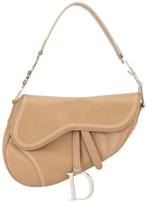 Christian Dior Pre-Owned stitching details Saddle shoulder bag