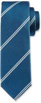HUGO BOSS Diagonal-Stripe Silk Tie, Teal/White