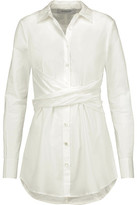 Derek Lam 10 Crosby Gathered Cotton-Poplin Shirt