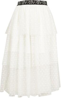River Island Girls White mesh rara skirt