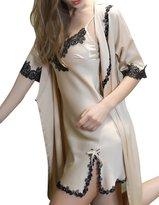 Burvogue Burvogur Women's Sexy Soft Robe and Nightgown Set Pajama Dress